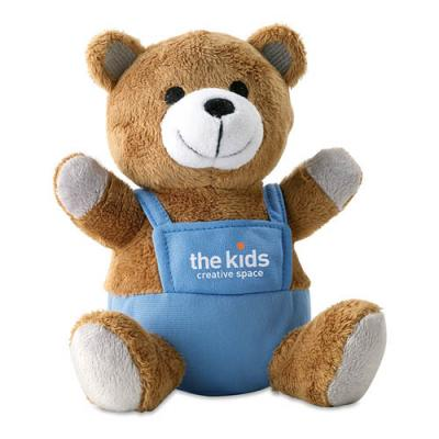 Image of Bear plush w/ advertising pants