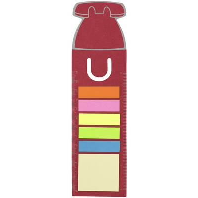 Image of House shaped bookmark and sticky notes.
