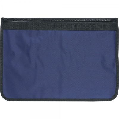 Image of Nylon Document Wallets - Navy / Black Edging