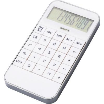 Image of Mobile phone shaped ten digit calculator