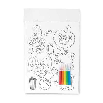 Image of Colouring magnetic stickers