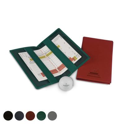 Image of Leather Golf Score Card Holder
