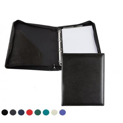 Image of E Leather A4 Zipped Ring Binder