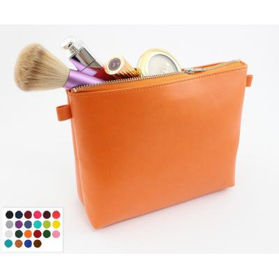 Image of Belluno Coloured PU Large  Zipped Pencil or Cosmetics Case